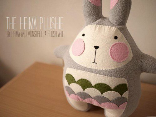 One of their favorite projects, the Heima Bunny.  Photo from the Monsterella website.