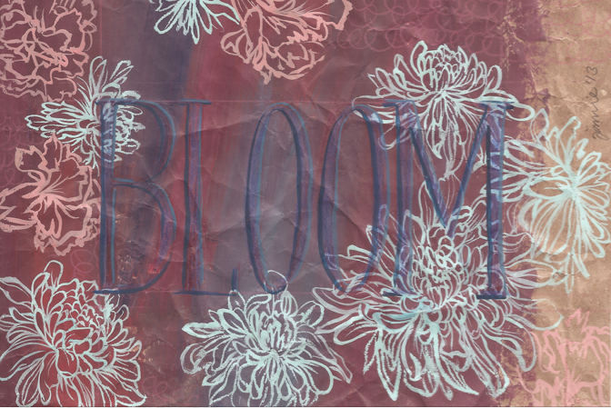 Bloom.  Illustration and typography.