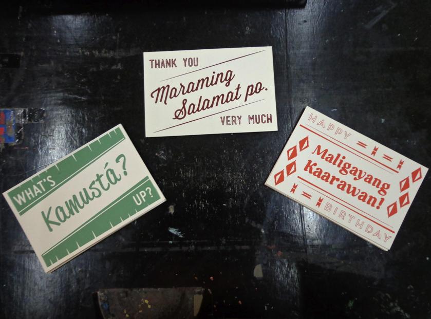 Screenprinted postcards!