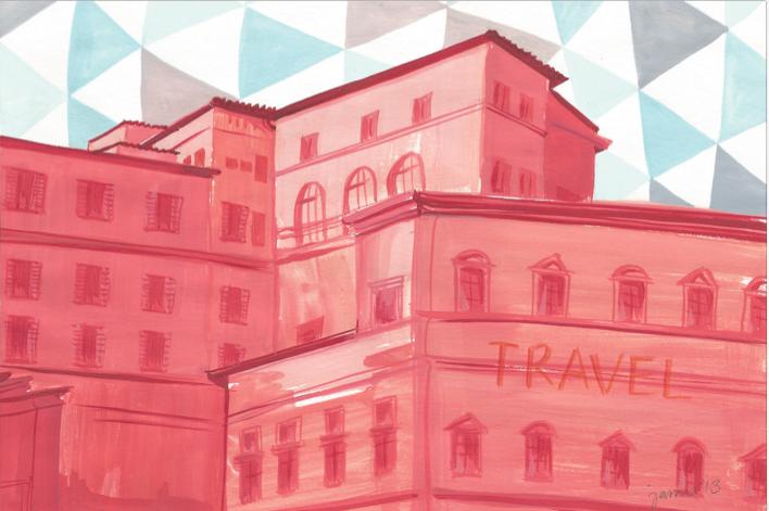 Travel.  Illustration.