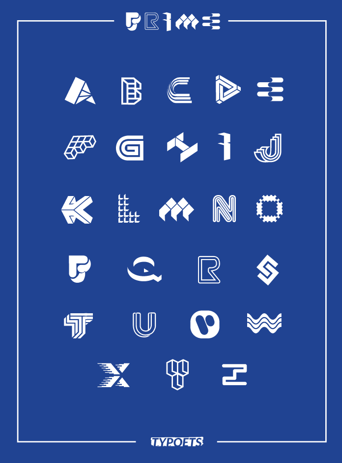 Prime.  Their first graphic alphabet.  You can have a shirt with your initial on it only this Saturday at our space!