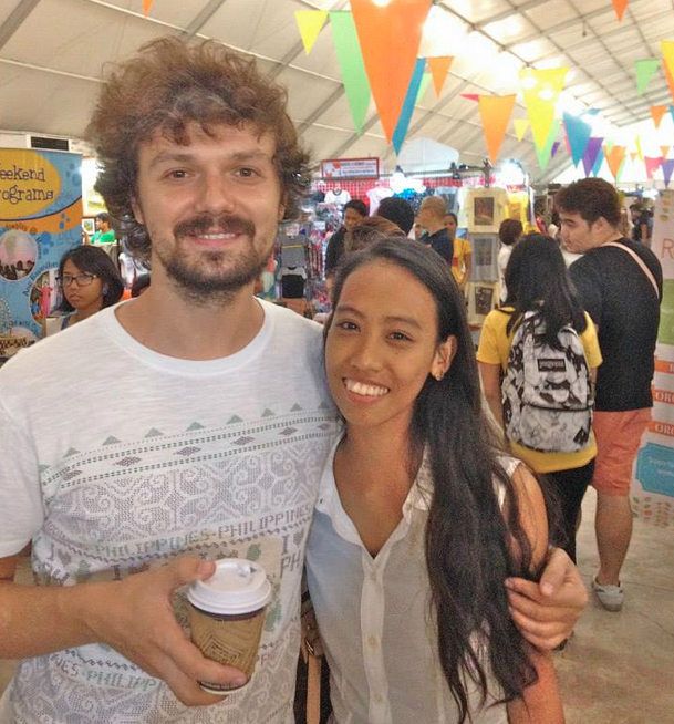 Bartek and Carissa (and coffee).  This photo was taken during the Global Pinoy Bazaar at the World Trade Center.  They came all the way from Batangas!