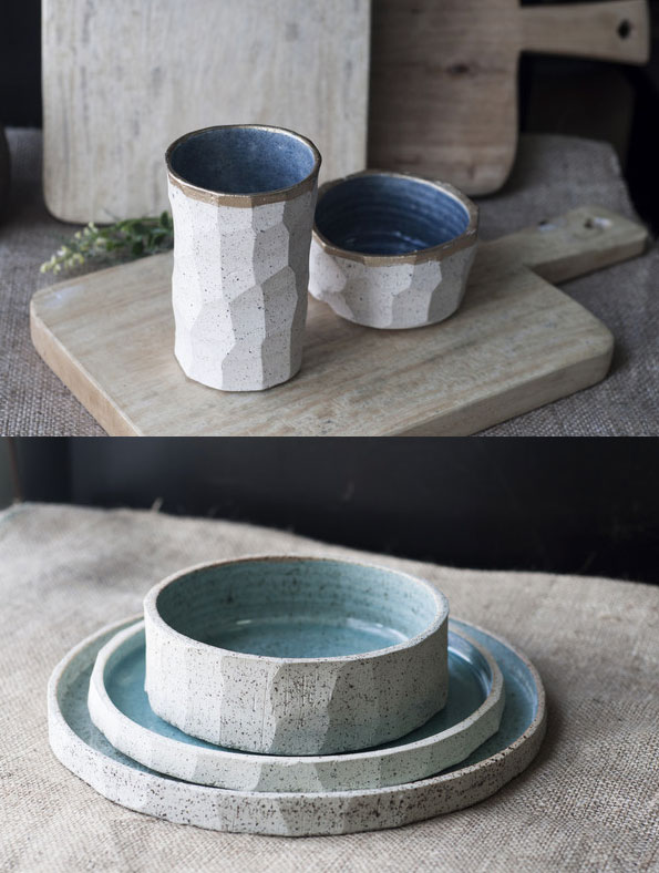 Luona Concept Store's stoneware pieces from Mia Casal are pieces of art.